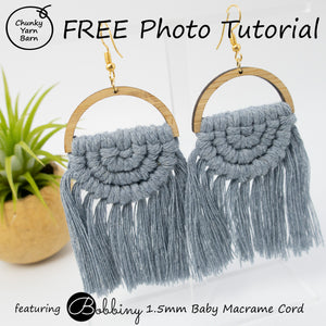 FREE Macrame Earrings Photo Tutorial