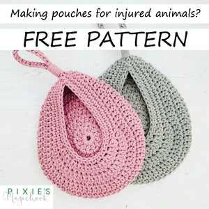 Pixie's Magic Hook FREE Crochet Hanging Basket Pattern to Help Wildlife