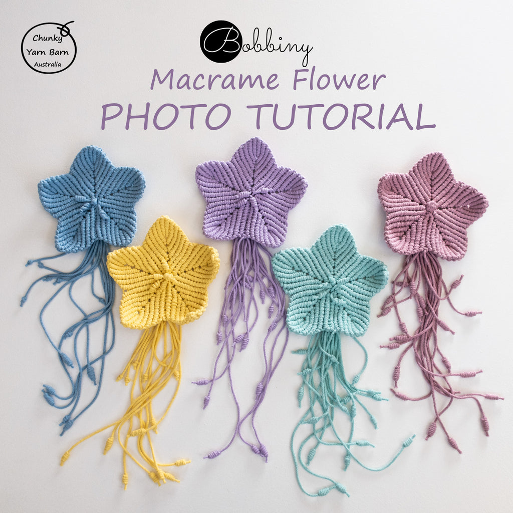 FREE Bobbiny Macrame Flower Photo Tutorial