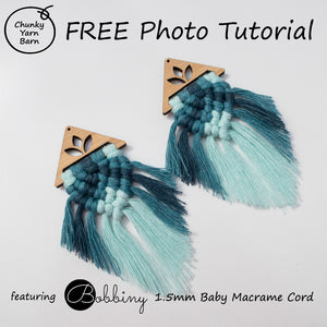 FREE Multi Coloured Macrame Earring Photo Tutorial