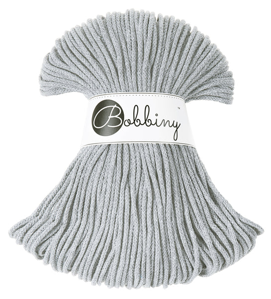 Bobbiny 3mm SILVER Cotton Cord 100m