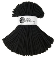 Bobbiny 5mm BLACK Braided Cord 100m