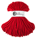 Bobbiny 5mm RED Cotton Cord 100m