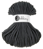 Bobbiny 5mm CHARCOAL Braided Cord 100m