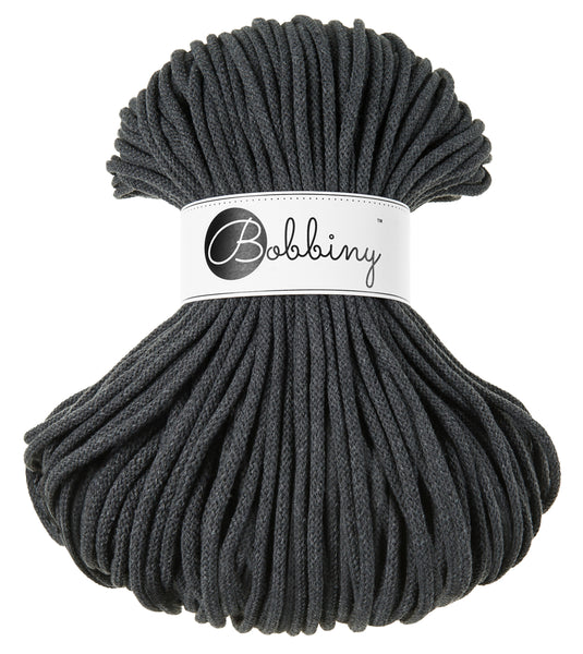 Bobbiny 5mm CHARCOAL Cotton Cord 100m