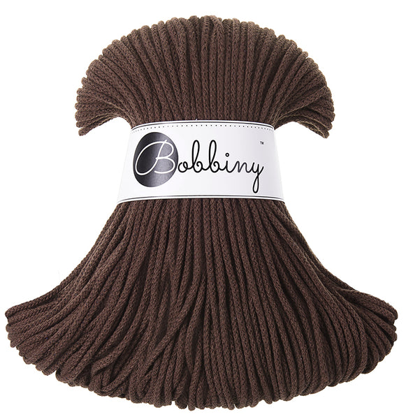 Bobbiny 3mm CHOCOLATE Cotton Cord 100m