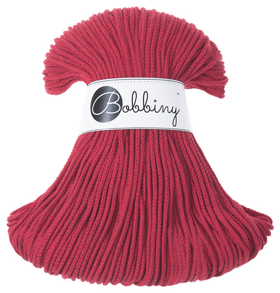 Bobbiny 3mm RED Cotton Cord 100m