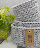 Bobbiny 5mm GREY LIGHT Cotton Cord 100m
