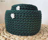 Bobbiny 3mm FOREST GREEN Cotton Cord 100m