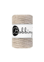 Bobbiny 1.5mm BEIGE Single Twist Macrame Cord 100m