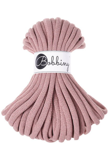 Bobbiny Jumbo 9mm BLUSH Cotton Cord 20m