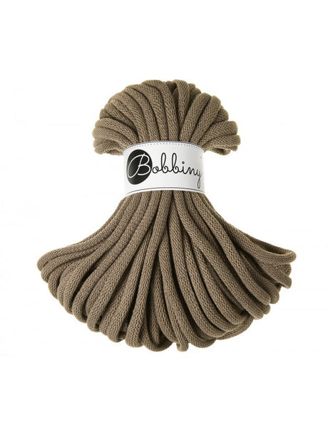 Bobbiny Jumbo 9mm COFFEE Cotton Cord 20m
