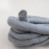 Chubby Felted Merino Wool GREY 10m