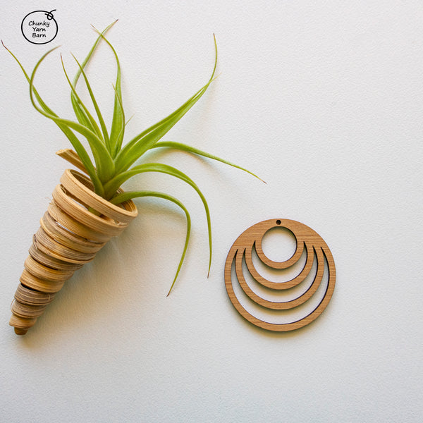 Bamboo Pendant Frame - Circle Detailed