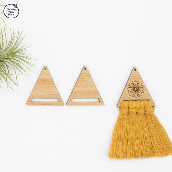 Customised Engraved Earrings TRIANGLE 35mm - 20 pairs