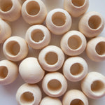 Wooden Round Beads 20mm Large Hole