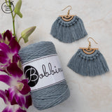Bobbiny 1.5mm RAW DENIM Single Twist Macrame Cord 100m
