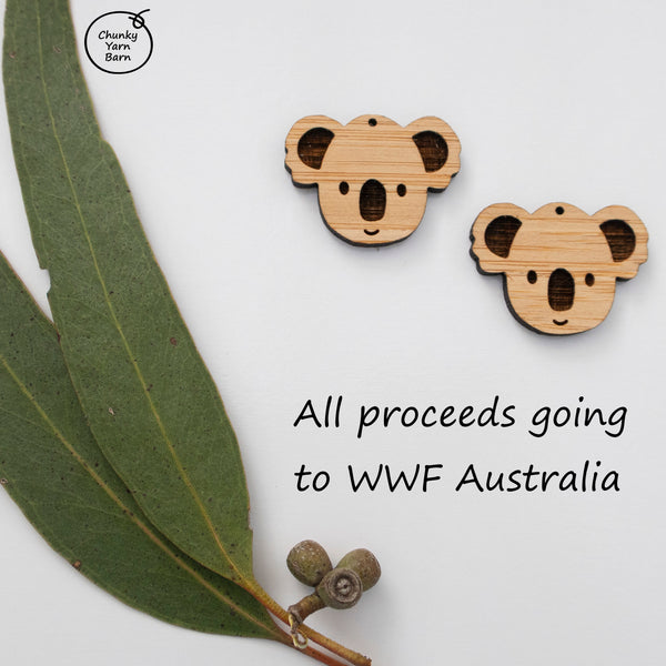 Bamboo Earrings KOALA Dangle