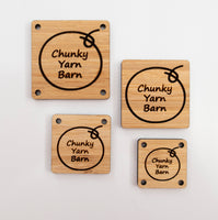 Custom Bamboo Tags SQUARE