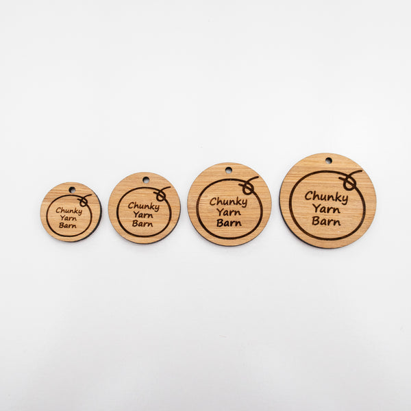 Custom Bamboo Tags CIRCULAR
