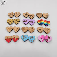 Stud Earring Blanks HEART