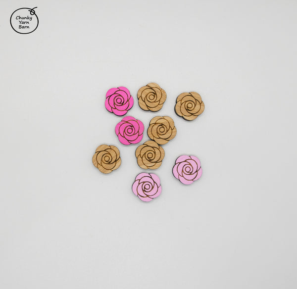 Stud Earrings ROSE Etched