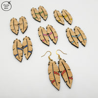 Earrings FEATHER Etched