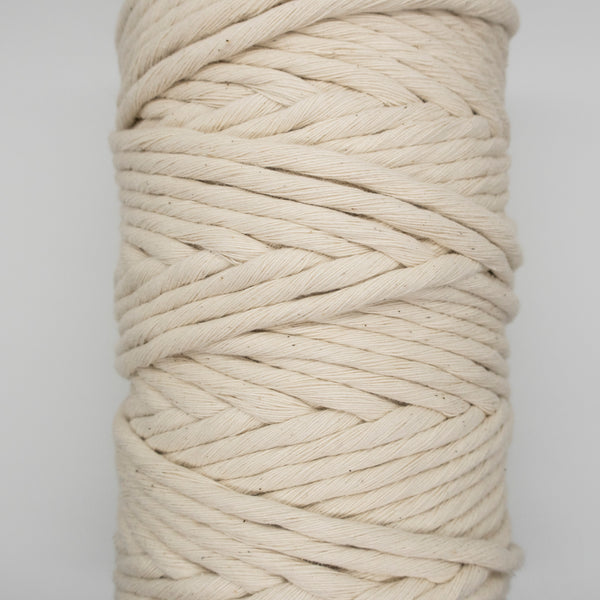 9mm NATURAL Single Twist Macrame Cord