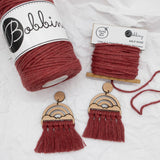 Bobbiny 1.5mm WILD ROSE Single Twist Macrame Cord 100m