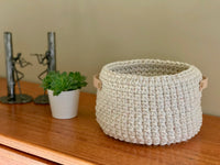 Round Crochet Basket Pattern