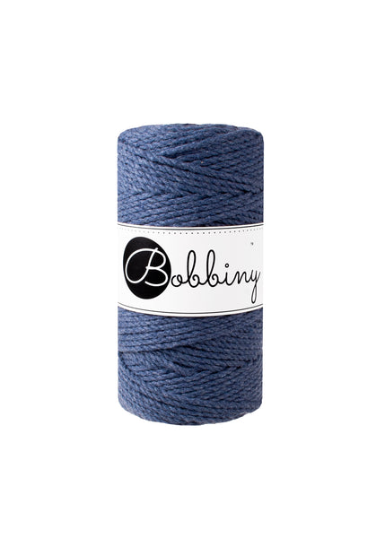 Bobbiny 3mm JEANS 3ply Macrame Cords 100m