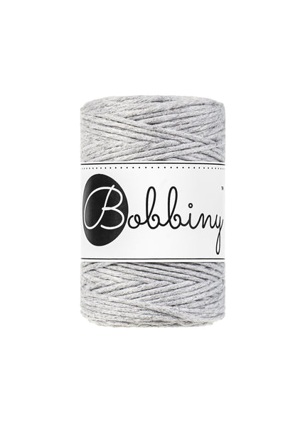 Bobbiny 1.5mm LIGHT GREY Single Twist Macrame Cord 100m