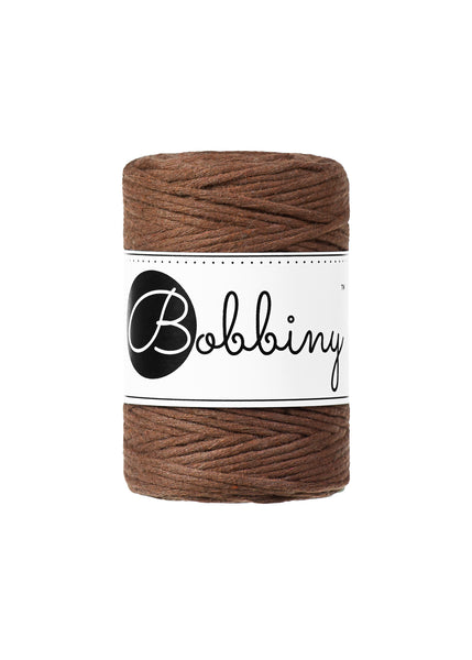 Bobbiny 1.5mm MOCHA Single Twist Macrame Cord 100m