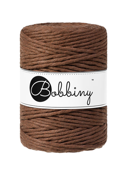 Bobbiny 5mm MOCHA Single Twist Macrame Cord 100m