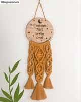 Macrame Frame DREAM BIG LITTLE ONE