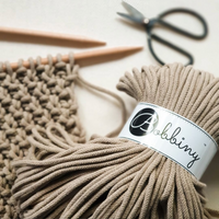 Bobbiny 5mm SAND Braided Cord 100m