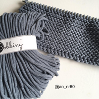 Bobbiny 5mm DENIM RAW Cotton Cord 100m