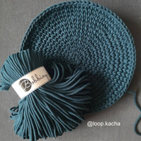 Bobbiny 5mm PEACOCK BLUE Cotton Cord 100m