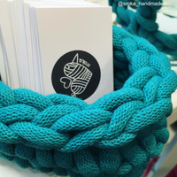 Bobbiny Jumbo 9mm TEAL Cotton Cord 50m