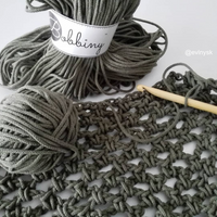 Bobbiny 5mm OLIVE Cotton Cord 100m