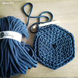 Bobbiny Jumbo 9mm PEACOCK BLUE Cotton Cord 50m