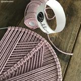 Bobbiny 3mm BABY PINK 3ply Macrame Cords 100m