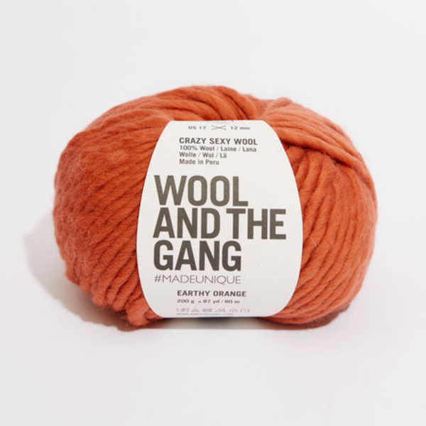 WATG Crazy Sexy Wool EARTHY ORANGE