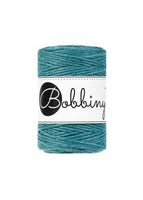 Bobbiny 1.5mm TEAL Single Twist Macrame Cord 100m