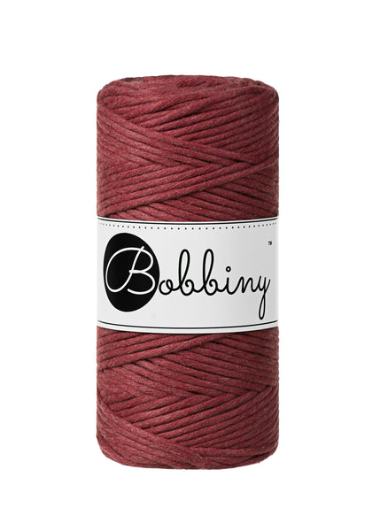 Bobbiny 3mm WILD ROSE Single Twist Macrame Cord 100m