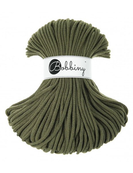 Bobbiny 5mm AVOCADO Braided Cord 100m