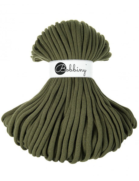 Bobbiny Jumbo 9mm AVOCADO Braided Cord 100m