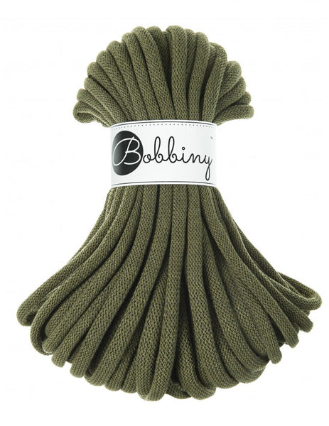 Bobbiny Jumbo 9mm AVOCADO Cotton Cord 20m