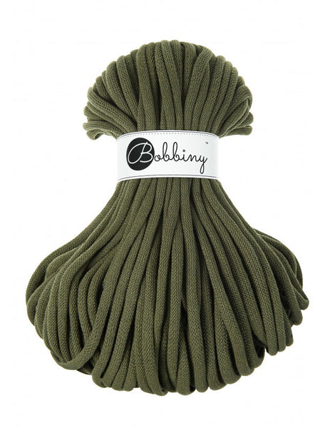 Bobbiny Jumbo 9mm AVOCADO Braided Cord 50m