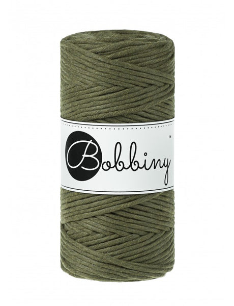 Bobbiny 3mm AVOCADO Single Twist Macrame Cord 100m